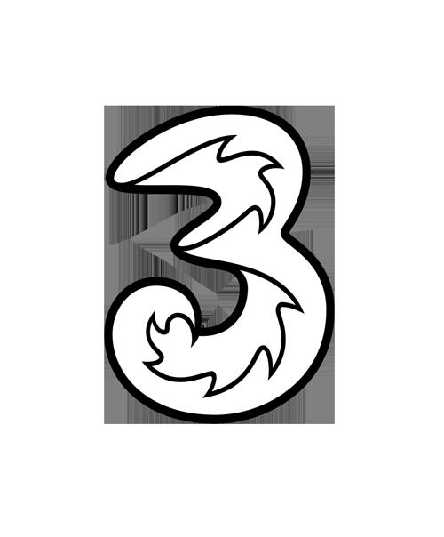 three mobile logo