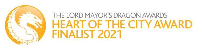 The Lord Mayor's Dragon Awards, Heart of the City Award Finalist 2021 Logo