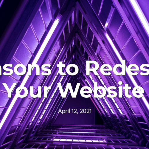reasons to redesign your website on a neon background
